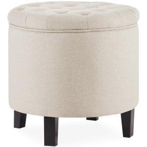 belleze-nailhead-blue-tufted-ottoman-coffee-table