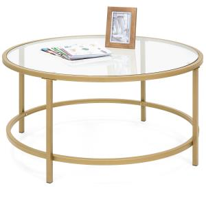 best-choice-gold-square-glass-coffee-table