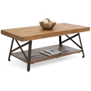 best-choice-oversized-rustic-wooden-coffee-table