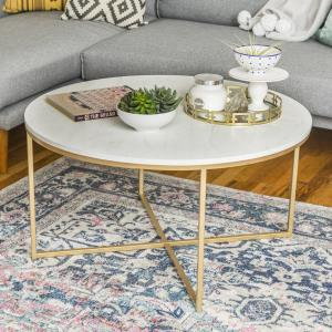 daisy-faux-gold-square-glass-coffee-table