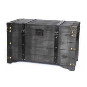 distressed-black-storage-chest-trunk-coffee-table