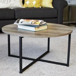 household-essentials-mirrored-circle-coffee-table