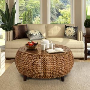 round-gold-coffee-table-set