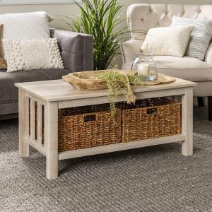 traditional-espresso-white-wood-oval-coffee-table