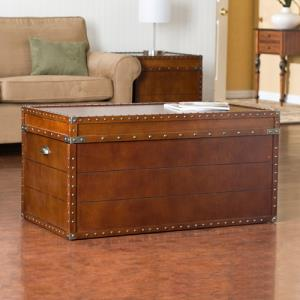 traditional-live-walnut-trunk-coffee-table