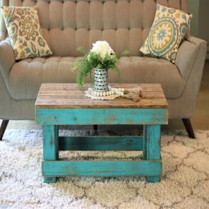 turquoise-combo-painted-coffee-table-designs