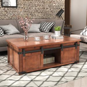 tv-stand-oversized-rustic-wooden-coffee-table