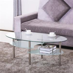 yaheetech-3-cheap-round-glass-coffee-table