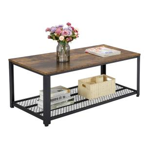 yaheetech-industrial-vintage-bench-coffee-table